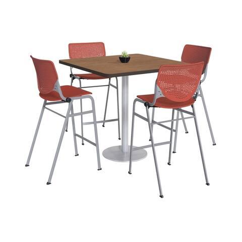 KFI KOOL Bistro Table & Chair set, Cherry Table Top
