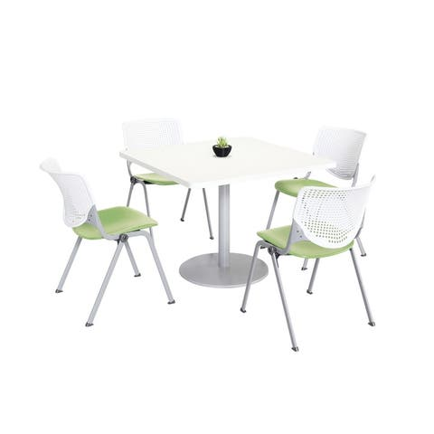 KFI KOOL Table & Chair set, White Table Top