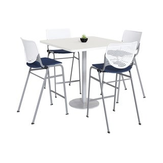KFI KOOL Bistro Table & Chair set, White Table Top