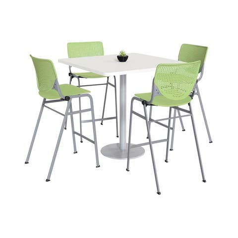 KFI KOOL Bistro Table & Chair set, White Table Top
