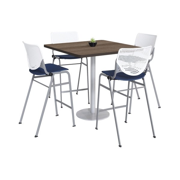 KFI KOOL Bistro Table & Chair set, Teak Table Top