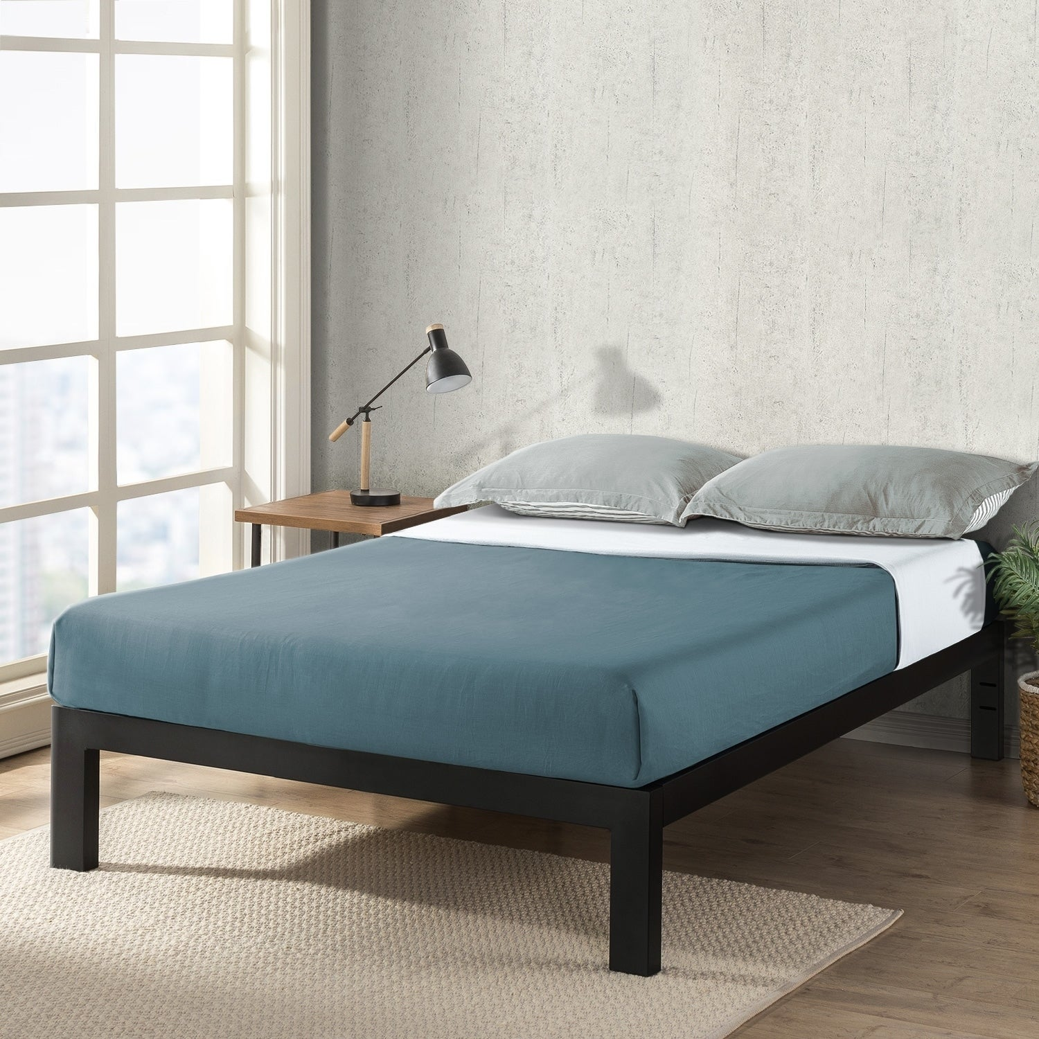 Twin Size Justmallet Frame 14 Inch Heavy Duty Steel Platform Beds With Wood Slat Mattress Foundation Black Crown Comfort On Sale Overstock 28057041