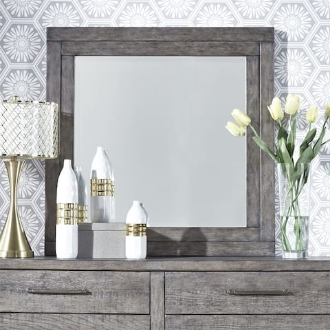 Modern Farmhouse Dusty Charcoal Mirror