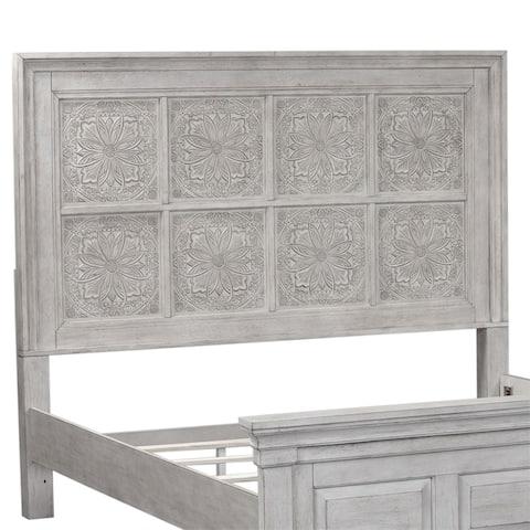 Heartland Antique White King Decorative Panel Headboard
