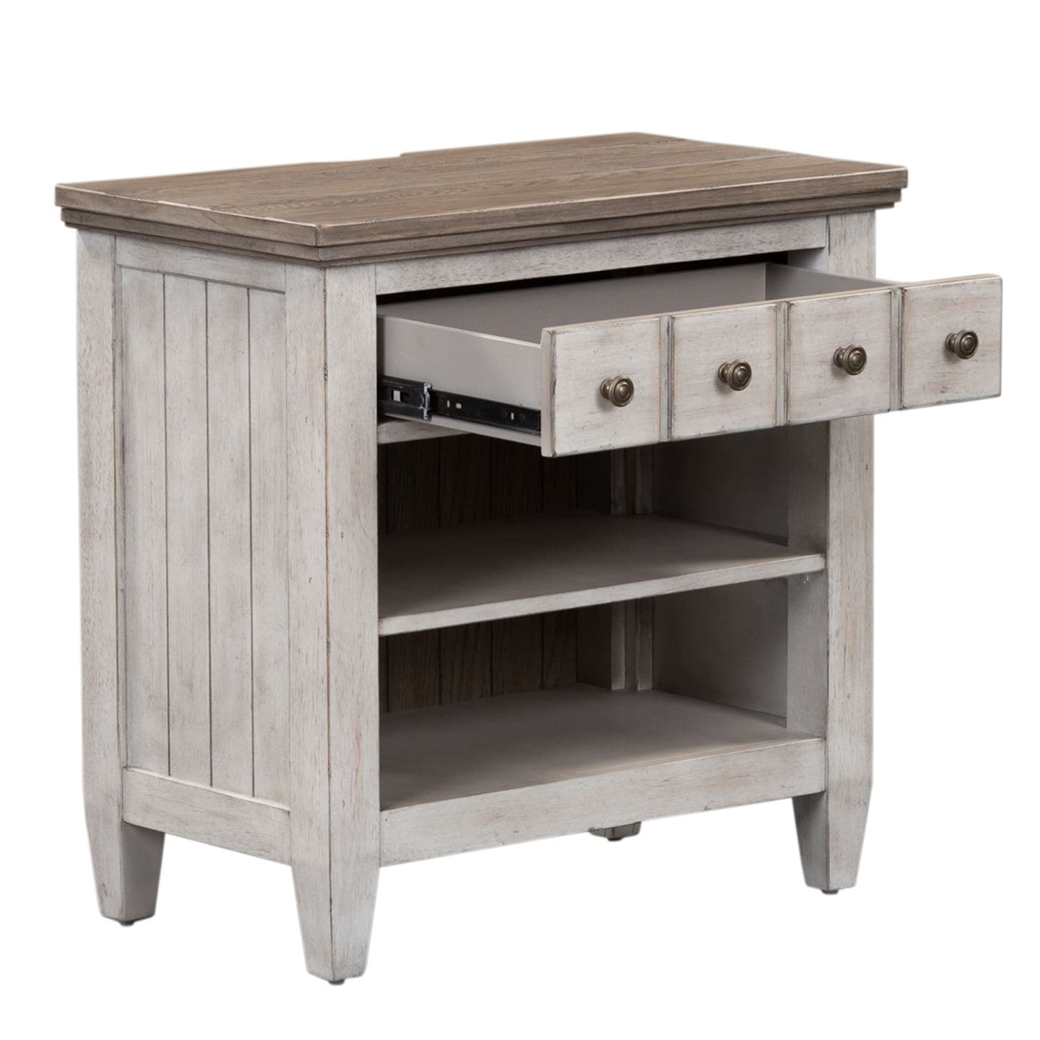 Shop Heartland White 1 Drawer Nightstand With Charging Station
