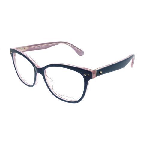 Kate Spade KS Adrie BR0 53mm Womens Blue on Pink Crystal Frame Eyeglasses 53mm