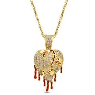 Unending Love 10K Yellow Gold 1/2 Cttw Diamond Charms Pendant Necklace