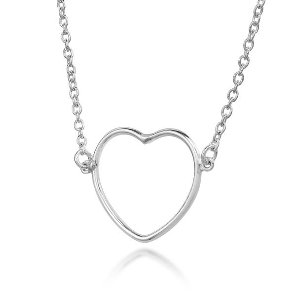 SALE.....Solid 925 Silver Fashion HEART Pendant....Free P/&P