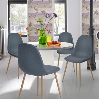 Porch & Den Saggeby Mid-century Modern Dining Chairs (Set of 4)