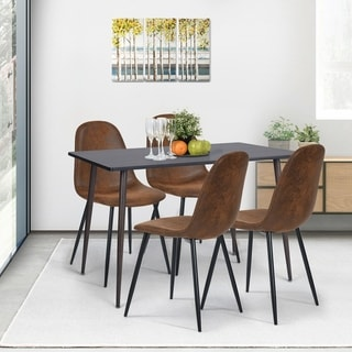 Link to Carson Carrington Mid-Century Modern Faux Suede Dining Chair (Set of 4) Similar Items in Dining Room & Bar Furniture