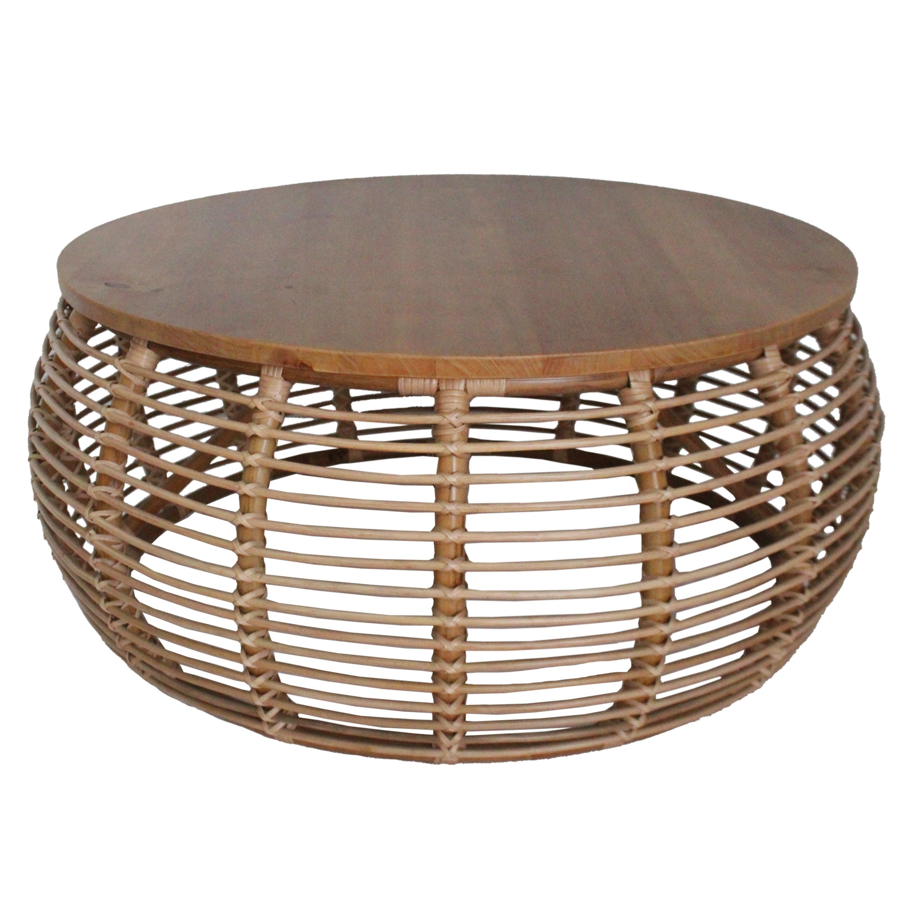 - Shop The Curated Nomad Doolittle Round Rattan Coffee Table
