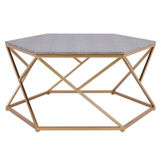 Link to Cressa Hexagon Faux-shagreen Coffee Table Similar Items in Living Room Furniture