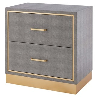 Link to Edinburgh Faux Shagreen Grey 2-drawer End table Similar Items in Living Room Furniture