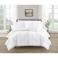 Pintuck White 5pc Comforter Set