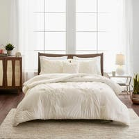 Madison Park Roselle 4 Piece Tufted Seersucker Comforter Set