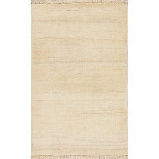 """Gabbeh Contemporary Hand Knotted Wool Oriental Persian Area Rug - 4'10"""" x 3'0"""""""