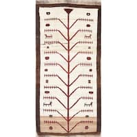 "Gabbeh Tribal Geometric Hand Knotted Wool Oriental Persian Rug - 5'8"" x 3'1"" Runner"