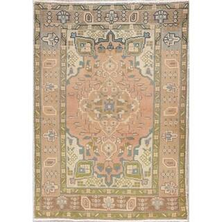 "Tabriz Muted Hand Knotted Wool Oriental Persian Distressed Area Rug - 4'6"" x 3'3"""