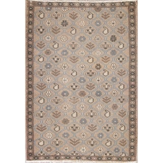 """Vintage Mahal Geometric Hand Knotted Wool Oriental Persian Area Rug - 4'9"""" x 3'5"""""""