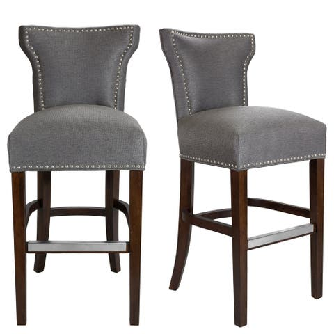 Traditional Upholstered Dining Room Barstools
