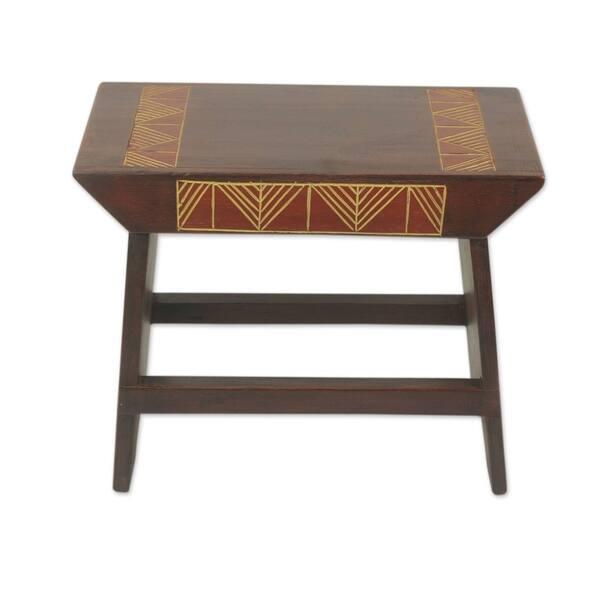 Admirable Shop Handmade African Heritage Wood Ottoman Stool Ghana Creativecarmelina Interior Chair Design Creativecarmelinacom