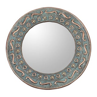 Colonial Rays Copper and bronze wall mirror