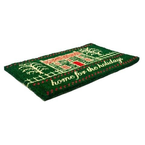 Williamsburg Home for the Holidays Handwoven Coconut Fiber Doormat 22 x 35