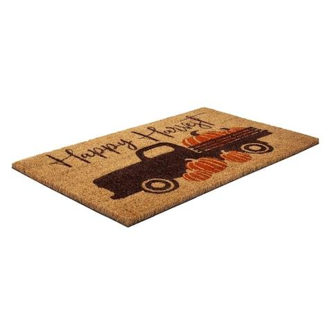 Happy Harvest Coir Doormat with Backing 17 x 28