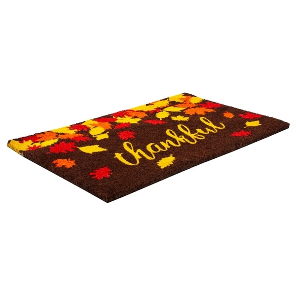 Thankful Coir Doormat with Backing 17 x 28. Opens flyout.