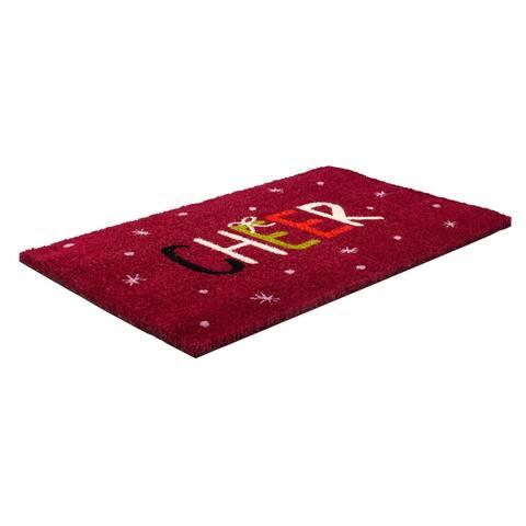 Cheer Coir Doormat with Backing 17 x 28