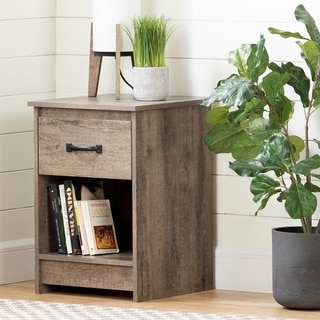 South Shore Tassio 1-Drawer Nightstand, Weathered Oak