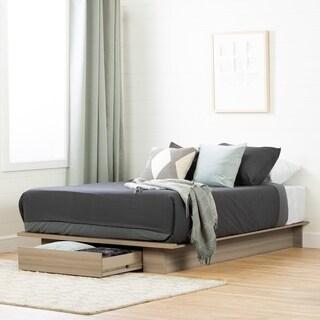 South Shore Kanagane 1-Drawer Platform Bed, Soft Elm