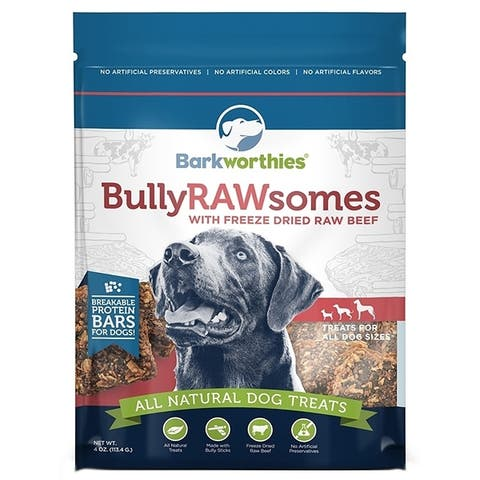 Barkworthies Bully Rawsomes with Freeze-Dried Raw Beef 4 oz. - Case of 3