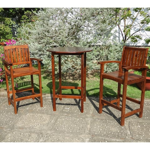 International Caravan Highland 3-Piece Bar-Height Bistro Set