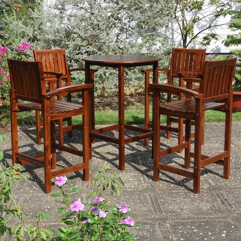 International Caravan Highland 5-Piece Bar-Height Dining Set