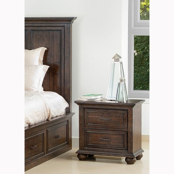 Holman Distressed Antique Brown 2-drawer Nightstand