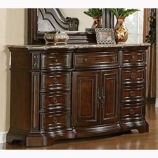 Paris Elegant Brown 9-drawer Dresser