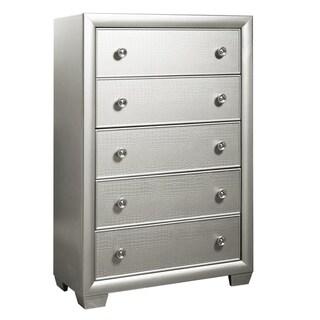 Ibiza Silver 5-drawer Chest