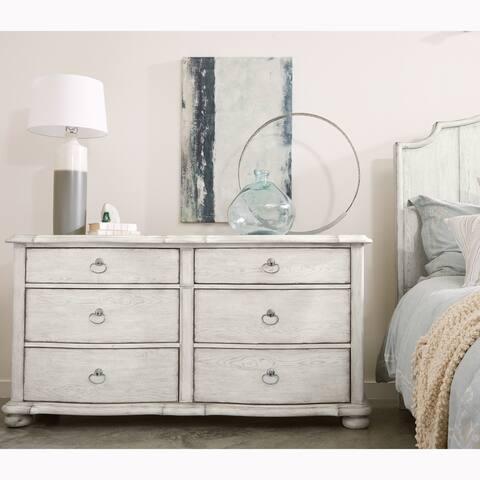 Montauk Antique White Distressed 6-drawer Dresser