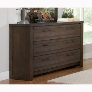 Lauren Distressed Brown Modern Industrial Rustic Drawer Dresser