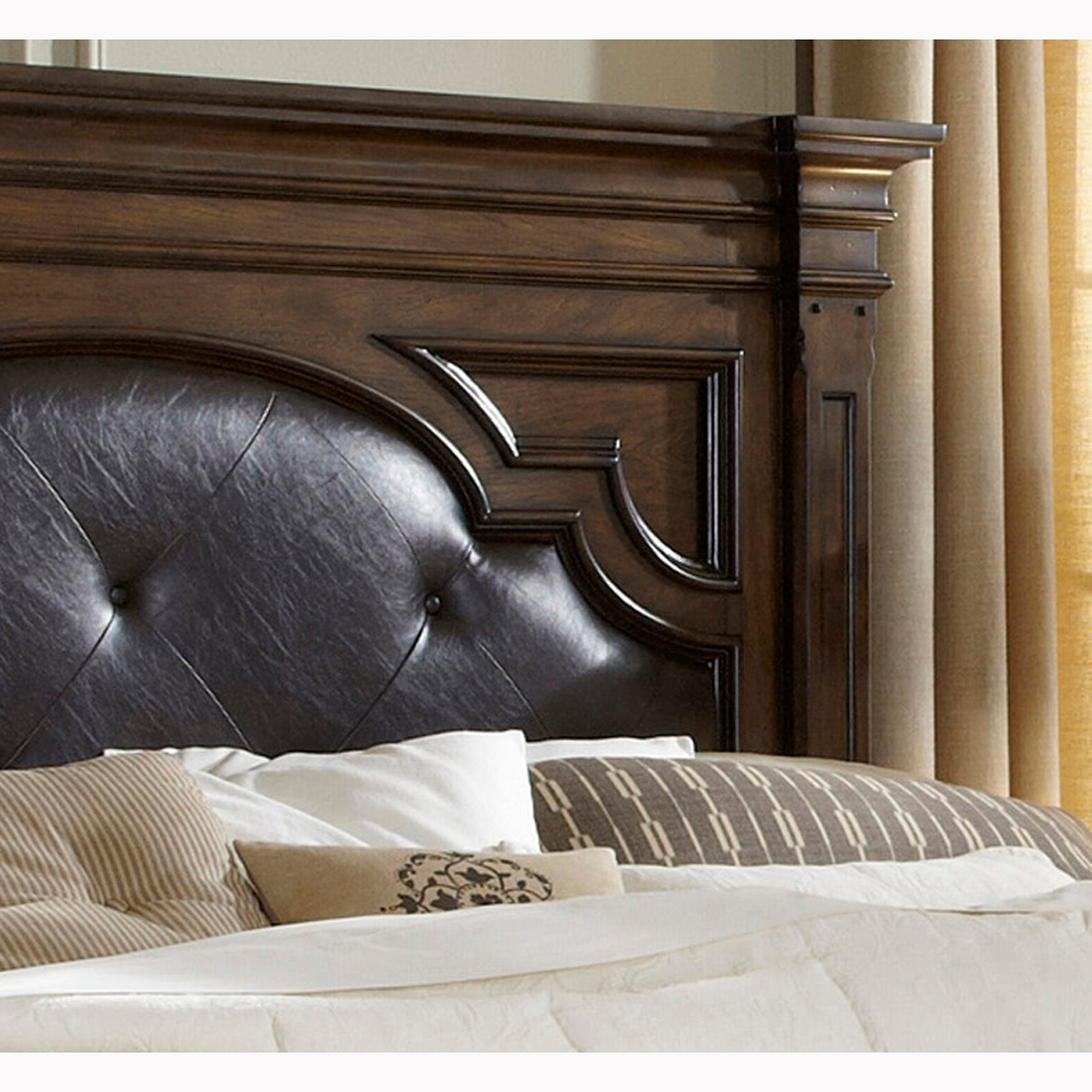 Chicago Traditional Brown Upholstered Tufted Headboard On Sale Overstock 28067607