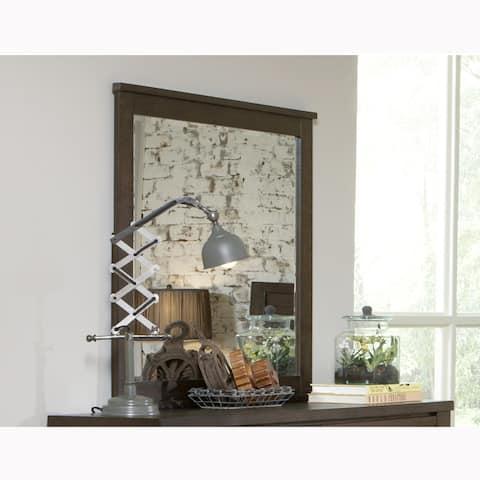 Lauren Distressed Brown Modern Industrial Rustic Mirror