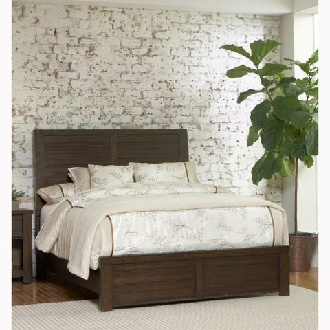 Lauren Distressed Brown Modern Industrial Rustic Bed