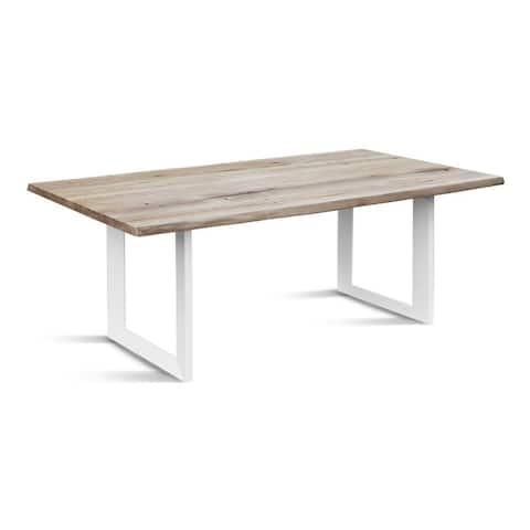 Naturelle 220 Dining Table - Whitewashed Oak/White