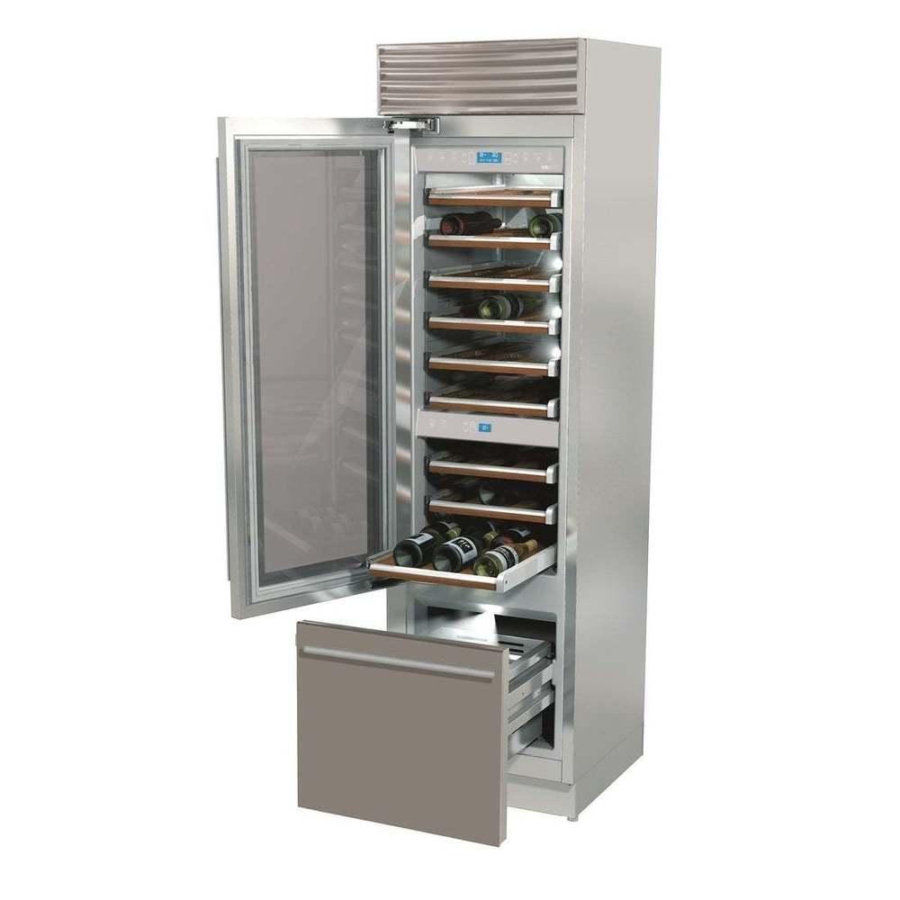 Overstock Fhiaba 24inch XI-PRO BOTTOM DRAWER WINE STAINLESS LHH