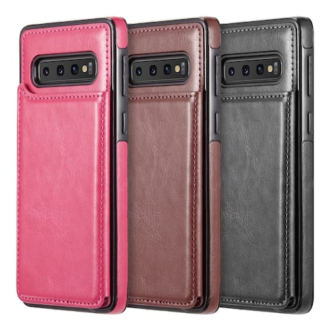 b9769f4f2 Galaxy S10 Plus Smartflip Business Slim Leather Case With Trio Card