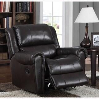 Kadri Brown Italian Leather Rocker Recliner Chair