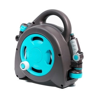 G.F. Garden Aquabag Maxi Portable Hose and Reel - Max. 58 psi, 54 ft. Retractable Hose Line