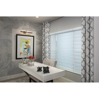 Link to Sheer Zebra Roller Shade in White Similar Items in Blinds & Shades