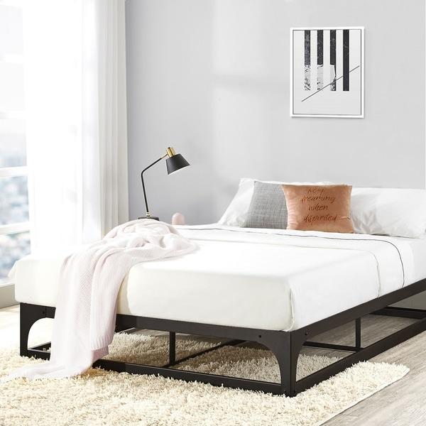 Porch & Den McCamant 12-inch Metal Platform Bed Frame with Hinged Corner